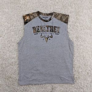 Realtree Tank Top Men XL Extra Large Gray Camo A18